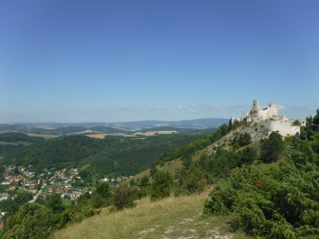 The castle overlooking the town