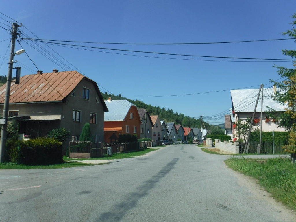 Row houses in Zábiedovo