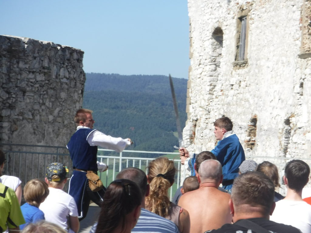 A re-enactment in the upper fortress