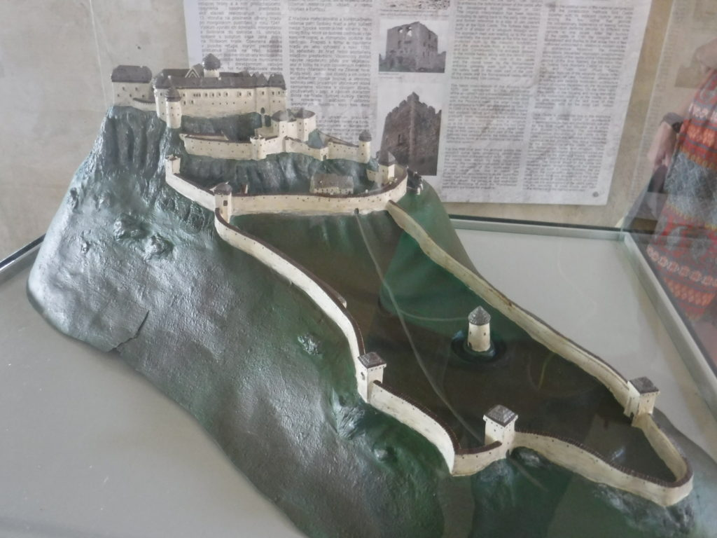 A model of the castle (before the fire)