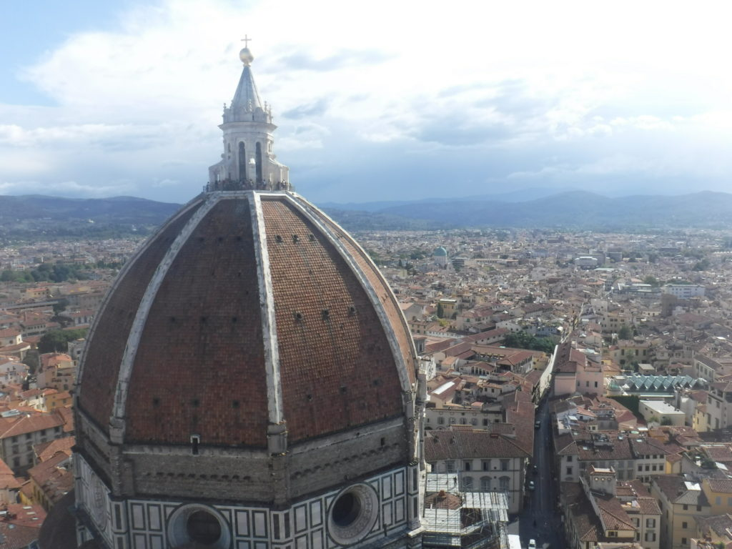 View of the Duomo from the nearby Campanile.